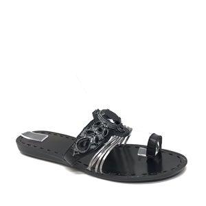 BCBGENERATION Black Jeweled Thong Sandals 8